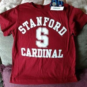 Brand new kids Stanford sz XS t shirt